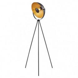 MOVIE Lampadaire trépied - H 148 cm - Tete : Ø 35 cm - Noir