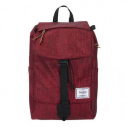 SAVEBAG Sac a dos a rabat gamme VERTICAL 15'' Rouge chiné