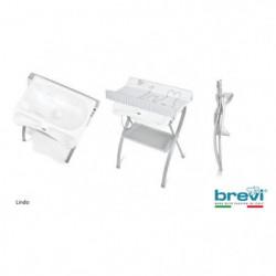 BREVI - Table a langer Lindo avec baignoire anatomique