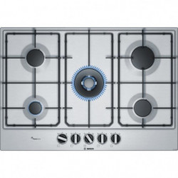 BOSCH PCQ7A5B80 Table de cuisson gaz - 5 brûleurs - 11,5 kW