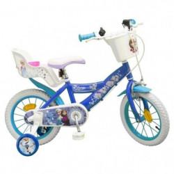 """LA REINE DES NEIGES Vélo Enfant fille 14"""" -4/7 ans- Bleu"""