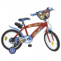 """PAT'PATROUILLE Vélo Enfant garçon - 14"""" - 4/7 ans - Rouge"""