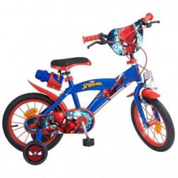 "SPIDERMAN Vélo garçon 14"" - 4/7 ans - Bleu et rouge"