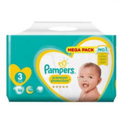 PAMPERS Premium Protection Taille 3, 6-10 kg, 98 couches