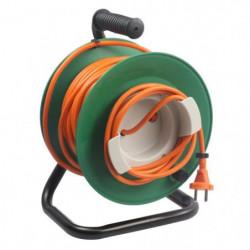 ZENITECH Enrouleur électrique 25m sans prise 2x1,5 mm²