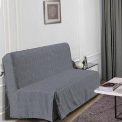 HOMETREND Housse de BZ Graphite - 140 x 200 cm - Noir