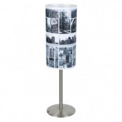STREET Lampe en métal - Ø12 x H.26 cm - Abat jour sérigraphié