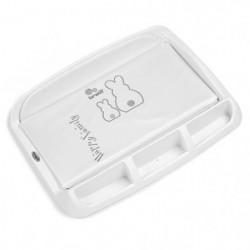 BREVI - Tablet Plan a langer - Imprimé lapinou perle