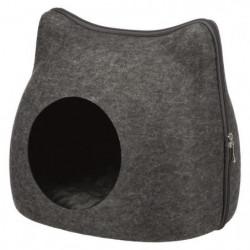 TRIXIE Abri douillet Cat 38 × 35 × 37 cm - Gris anthracite -