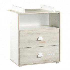 BABYPRICE  Commode a Langer Smile Hetre Cendré