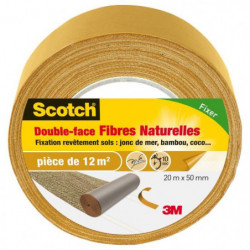 3M SCOTCH Double-face - 20 m x 50 mm - Fibre naturelle