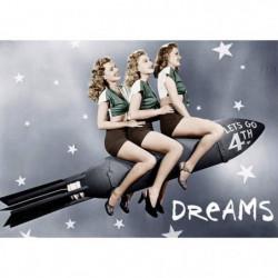 Affiche papier - American Rocket Girls  -  50x70 cm