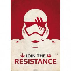 Poster Star Wars - « Join The Resistance » roulé filmé (98x6