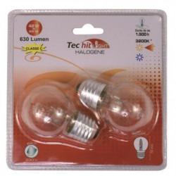 TEC HIT LIGHT Lot de 2 ampoules halogenes E27 42 W équivalen