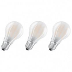OSRAM Lot de 3 Ampoules LED E27 standard dépolie 7 W équival