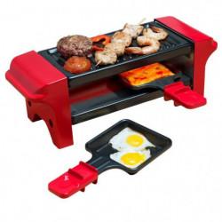 BESTRON AGR102 Raclette gril ? 350W ? 2 a 4 personnes ? Roug