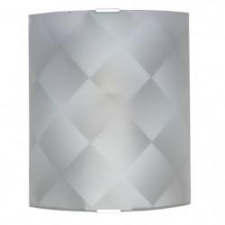 Applique en verre incurvé, dépoli et sérigraphié - 20 x 25 c
