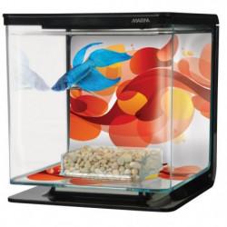 MARINA Kit aquarium équipé Art déco pour betta - 2 L