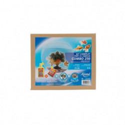 AIME Kit Aquarium, Aqua Boule + Déco + Aliment pour poissons
