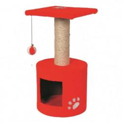VADIGRAN Grimpoir Bongo - 30x30x59cm - Rouge - Pour chat