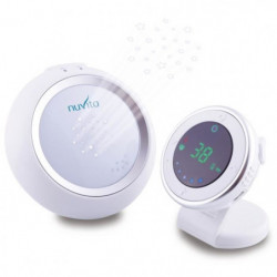 NUVITA Moniteur audio pour bébé avec veilleuse projecteur de