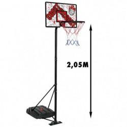 CDTS Panneau de Basket avec Socle Lestable - Hauteur max. 2,