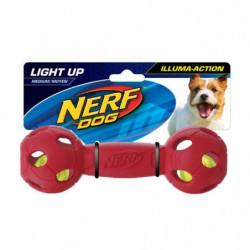 NERFDOG Balle Haltere Flash LED M 7 cm - Bleu et rouge - Pou