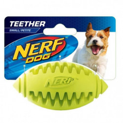 NERFDOG Ballon oval a lancer ou a machouiller S - Bleu - Pou