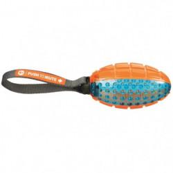 TRIXIE Push to mute - Ballon de rugby avec corde - 12-27 cm