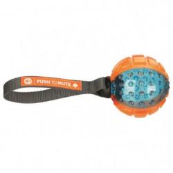 TRIXIE Push to mute - Balle avec corde - ø 7 cm-22 cm - Oran