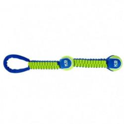 ZEUS Double balle tennis 51 cm avec corde - Bleu et vert - P
