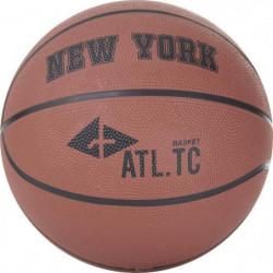 ATHLI-TECH Ballon de basket New York - Orange Foncé - T7
