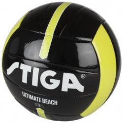 STIGA Ballon de football et volley Ultimate beach - Noir et