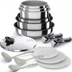 BACKEN 399915 - Batterie de  cuisine 15 pieces  inox - Tous