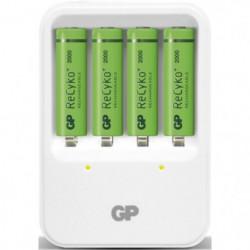 Chargeur pour piles rechargeables LR6/AA et LR03/AAA - livré