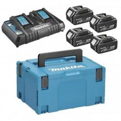 MAKITA Pack energie 18 V Li-ion - 4 batteries (5Ah) + 1 char
