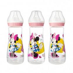 DISNEY Lot de 3 biberons Minnie Pink Girl - 250 ml