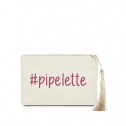 "BAM - Pochette Beige - Message ""Pipelette"""