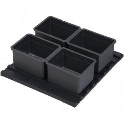 KS TOOLS Lot d'inserts pour boite de transport SCM, 5 pieces