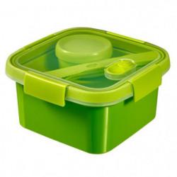 CURVER Smart Lunch box carrée 1,1L avec couverts