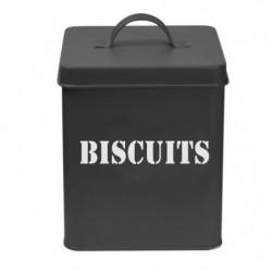 FRANDIS Boîte a biscuits carrée en métal - 14,5 x 14,5 x 19