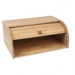 Boîte a pain en bambou avec couvercle coulissant