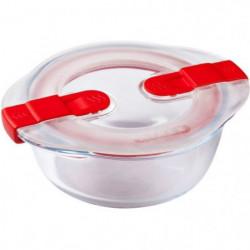 PYREX - COOK&HEAT - Boîte ronde en verre avec couvercle 14*1