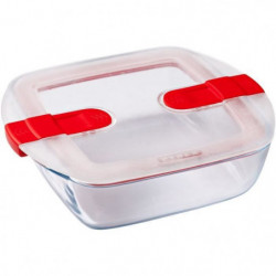 PYREX - COOK&HEAT - Boîte carrée en verre avec couvercle 20*