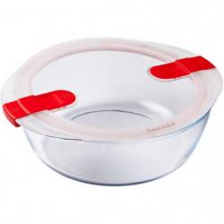 PYREX - COOK&HEAT - Boîte ronde en verre avec couvercle 26*2