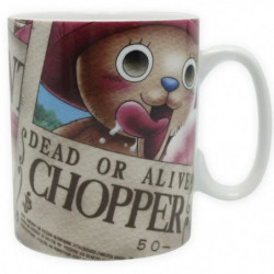 Mug One Piece - 460 ml - Chopper Wanted - porcelaine avec bo