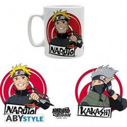 Mug Naruto Shippuden - 460 ml - Naruto & Kakashi - avec boît