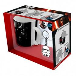 Pack Mug + Porte-clés + Badges Star Wars - Mug Troop -Vador