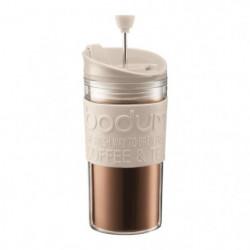 BODUM TRAVEL PRESS Mug a piston isotherme - 0,35 L - Blanc