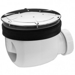 WIRQUIN Bonde de douche Twisto - Ø 90 mm - Dôme en ABS chrom